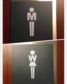 Signetique Logo-Mannfrau der Toilette - All About Decoration Wayfinding Signage, Signage Design, Cafe Design, Design Design, Design Elements, Deco Restaurant, Restaurant Design, Wc Icon, Toilet Signage