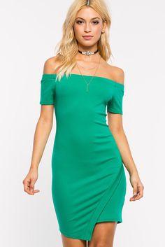 A'GACI   Ariana Off Shoulder Origami Dress   #AGaci