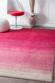 Rugs USA Pink Chroma Simple Ombre rug - Contemporary Rectangle x Room Rugs, Rugs In Living Room, Area Rugs, Contemporary Rugs, Modern Rugs, Modern Color Palette, Coastal Rugs, Fluffy Rug, Farmhouse Rugs