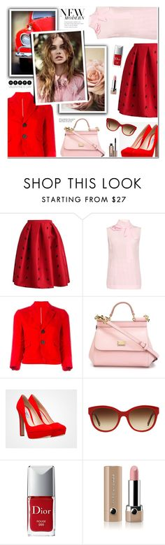 """Untitled #136"" by anyasdesigns ❤ liked on Polyvore featuring Rochas, Dsquared2, Dolce&Gabbana, Burberry, Christian Dior, Marc Jacobs, Benefit, Tiffany & Co., women's clothing and women"