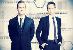 USA Network Original Series - Suits stars Patrick J. Adams as Michael Mike Ross and Gabriel Macht as Harvey Specter working at a law firm in NYC. Mike Suits, Harvey Specter, Music Tv, Wasting Time, Suit Jacket, Mens Fashion, Celebrities, Movies, Lawyer