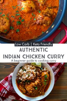 Everything you need to know to cook an authentic Indian chicken curry from scratch. net carbs per serving makes this a perfect keto friendly option. Healthy Indian Curries, Keto Indian Food, Indian Food Recipes, Asian Recipes, Asian Foods, Authentic Indian Chicken Curry, Authentic Indian Recipes, Cooking Curry, Indian Dishes
