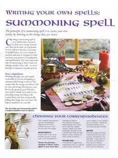 Mind, Body, Spirit Collection - Writing Your Own Spells Summoning Spell