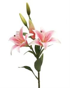 86cm Artificial Freshtouch Lily - Pink