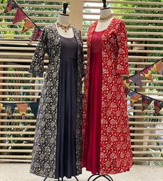 Rake in compliments dressed in this floral embroidered ensembles at Kayra. WhatsApp/ Call us at 9205058820 for personal shopping… Pakistani Fashion Party Wear, Hijab Fashion, Women's Fashion, Indian Gowns, Indian Wear, Designer Wear, Designer Dresses, Designer Kurtis, Samoan Dress