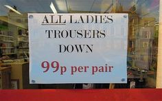 All Ladies Trousers Down - Telegraph Sign Language