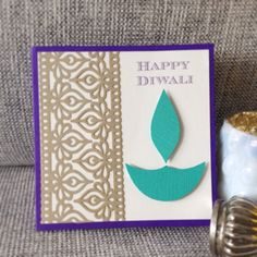 Check out our diwali card selection for the very best in unique or custom, handmade pieces from our shops. Handmade Diwali Greeting Cards, Happy Diwali Cards, Diwali Greetings, Diwali Wishes, Handmade Tags, Diwali Craft, Diwali Diy, Diwali Party, Diwali Card Making
