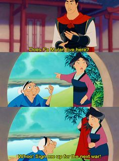 Ohemdubs. Love Mulan.