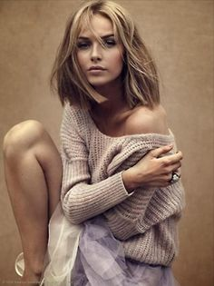Oversized over the shoulder beige sweaters ♥ #MyVSFallEdit | Please vote for my board at vsallaccess.victo... | Merrill H