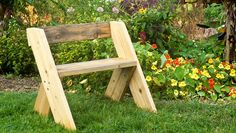 Fast Project: Leopold Lawn Bench  http://www.rodalesorganiclife.com/home/fast-project-leopold-lawn-bench?cm_mmc=pinterest-_-OrganicGardening-_-Content-LearnGrow-_-buildleopoldbench