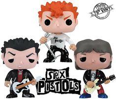 Figuras Sex Pistols Funko Pop! em Estilo Fofinho!