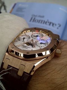 The Royal Oak Perpetual Calendar in rose gold. Quantieme Perpetuel, even the name is beautiful. AP