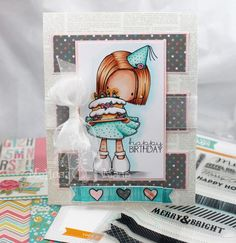Tiddly Inks in the STAMPtember® Spotlight creation by Melissa Forquer for the Simon Says Stamp blog.  Stamptember 2014
