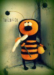 Zhoo-zhoo Bee needle felted