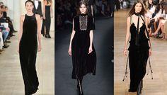 Tendances mode hiver robes en velours, défilé Ralph Lauren Collection, Valentino et Chloé