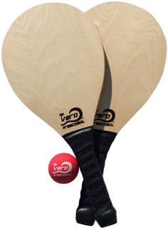 CYBER MONDAY DEAL - Frescobol Birch Wood Beach Paddle Game Kit