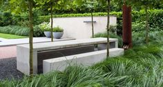 Concrete table and bench