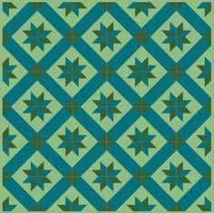 1m² Zementfliesen Orient Mosaik Jugendstil Fliesen Dekorfliese Altbau Stern 4613