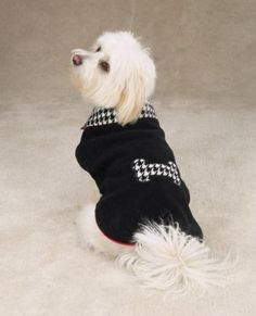 Reversible Houndstooth Dog Clothes Coat ...Lexi