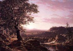 Frederic Edwin Church Paintings-July Sunset, Berkshire County, Massachusetts, 1847