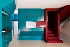 cozinha vermelho azul decoração - Pesquisa Google
