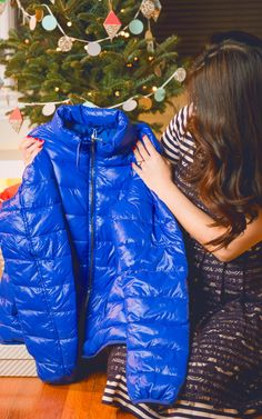 This gorgeous pop of color completely updates the puffer jacket. I can't wait to style this a million different ways!