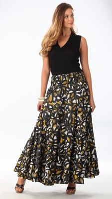 Serena Maxi Skirt - Romantic and vibrant floral print adorns this lovely new skirt.  #lelspring