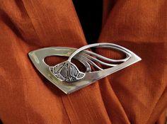 Art Nouveau sterling silver brooch Antique silver by cristinasroom.