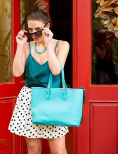 All about that polka dot with turquoise // details on blog