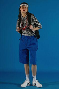 — ader error s/s 2016 Fashion Poses, Love Fashion, Girl Fashion, Fashion Outfits, Fashion Design, Cool Outfits, Summer Outfits, Japanese Street Fashion, Fashion Photography