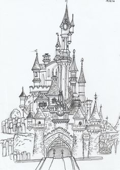 photo disneyland paris noel disney castle chateau belle bois dormant decembre 2017 by modaliza photographe Disney Castle Drawing, Castle Sketch, Drawing Disney, Art Disney, Disney Kunst, Disney Sketches, Disney Drawings, Croquis Disney, Disneyland Paris Castle