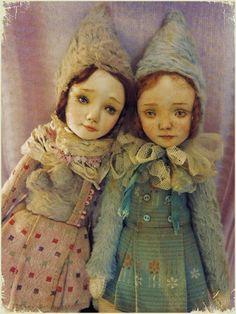 OOAK Art Puppe Teddy Puppe Mädchen in grün von EllDolls auf Etsy