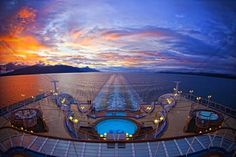 Vibrant sunset seen cruising off the coast of Alaska.  #princess cruises and #travel