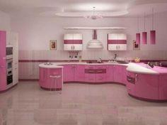 sahane-Pembe-Genis-Mutfak-Modeli · Dekorasyon, Ev Dekorasyonu, Ev Tasarımı Döşemesi | Dekorasyon, Ev Dekorasyonu, Ev Tasarımı Döşemesi