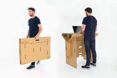 Mobile Cardboard Furniture. 20 Handy Portable Desks From Briefcase-Converting Furniture to Two-Wheeled Offices