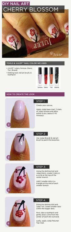 DIY Nail Art: Cherry Blossom
