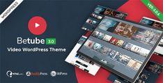 Betube Video WordPress Theme Template Wordpress, Tema Wordpress, Premium Wordpress Themes, Video Websites, Video Site, Video News, Fontes Do Google, Homepage Design, Themes Free