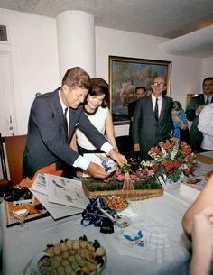 President Kennedy with Jackie at a birthday party for him in 1963. Jackie's Aloxxi Hair Color Personality is Aloxxi's Favorite®…naturally! | celebrity hair | iconic hair | beauty icon | brunette hair | camelot | fifties | Jackie Kennedy | Jackie O | JFK | John F Kennedy