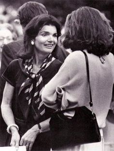 Jackie Onassis at a Robert Kennedy Memorial Mass in Arlington Cemetery.