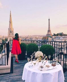 Last days of summer view from George V, Paris.