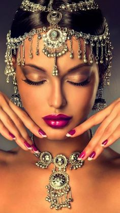 Photo about Beautiful Indian woman portrait with jewelry. elegant Indian girl looking to the side ,bollywood style. Image of face, make, bollywood - 59315156 Exotic Beauties, Female Portrait, Woman Portrait, Fashion Quotes, Indian Girls, Indian Beauty, Indian Jewelry, Indian Fashion, Bridal Jewelry