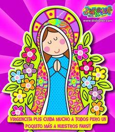 Virgen porfis en caricatura - Imagui