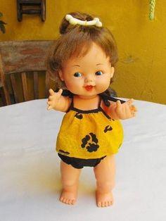 linda boneca pedrita flintstone brinquedo antigo estrela