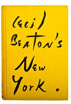 Loved the book cover! Book cover of Cecil Beaton's New York. This Is A Book, Love Book, Typography Letters, Typography Design, Hand Lettering, Typography Inspiration, Brush Lettering, Book Cover Design, Book Design