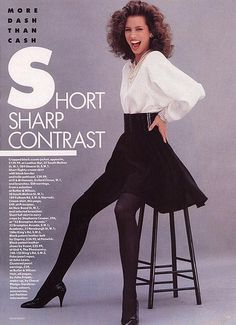 80s fashion (miniskirt)