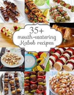 35 Summer Kabob Recipes - the best of the best recipes!  They look amazing!  From www.overthebigmoon.com!