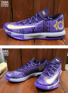"THE SNEAKER ADDICT: Nike KD 6 VI ""BHM"" Purple Venom/Metallic Gold/Purple Dynasty Sneaker (Detailed Images)"