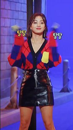Twice Video, Jihyo Twice, Sulli, K Idols, Baby Baby, Leather Skirt, Angel, Videos, Digital Painting Tutorials