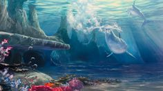 """This is a condensed version of the full 2.5hr """"How To Paint Under Water Scenes"""" video series available now at http://learn.muraljoe.com. Learn how to paint t..."""
