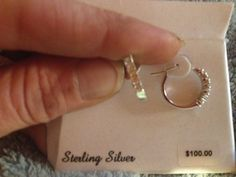 ~***~STERLING SILVER & WHITE TOPAZ EARRINGS~***~
